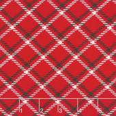 Dotty for Scottie - Plaid Red Yardage