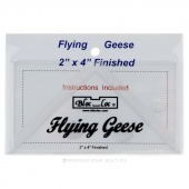 "Bloc Loc 2"" x 4"" Flying Geese Square Up Ruler"