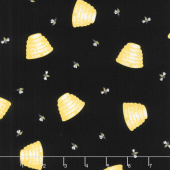 Honey Run - Honey Hive Black Yardage