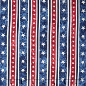 Stonehenge Stars and Stripes V - Stripe Navy Yardage