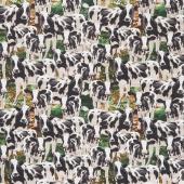 Farm Life - Packed Cows Multi Yardage