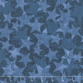 All American Road Trip - Stars Blender Navy Yardage