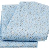 Wilmington Essentials - Petite Dots Blue Brown 3 Yard Cut