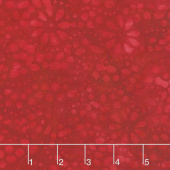 Fire & Ice Batiks II - Dotted Petals Fire Yardage