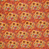 Happy Fall - Harvest Bouquet Barn Red Yardage