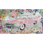 Pink Cadillac Collage Pattern