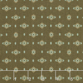 Wit & Wisdom - Dotted Diamonds Brown Yardage