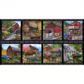 Country Paradise - Blocks Brown Panel