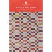 4-Patch and Strips Quilt Pattern by MSQC