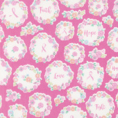 I Believe in Pink - Faith Hope Love Pink Yardage