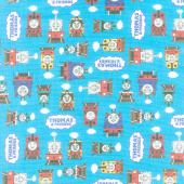 All Aboard with Thomas & Friends - Thomas and Friends Blue Yardage
