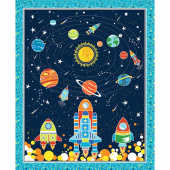 All Systems Glow - Navy Glow in the Dark Panel