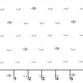 GRL PWR - Eyelashes White Yardage