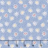 Sorbet - Floral Blue Yardage