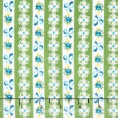 Dainty Darling - Dainty Stripe Green Yardage
