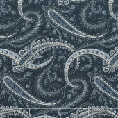 Holly Woods - Paisley Midnight Yardage