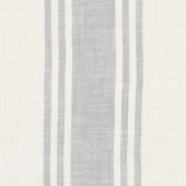 "Urban Cottage - Wovens Center Stripe Ivory Grey 16"" Toweling Yardage"