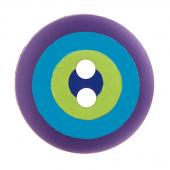 "Kaffe Fassett Button - 5/8"" Violet Multi Target"