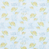 Water Wishes - Sea Turtles Blue Yardage