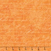 Under A Spell - Cursive Texture Orange Yardage
