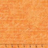 Under A Spell - Cursive Texture Orange Yardage