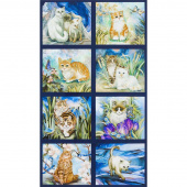 Be Pawsitive - Cats Garden Digitally Printed Panel