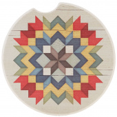 Quilt Car Coaster - Carpenter Star