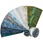 Artisan Batiks - Twilight Snowfall Metallic Roll Up