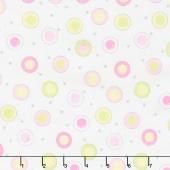 Mama Lal - Susybee Circle Dot Pink Yardage