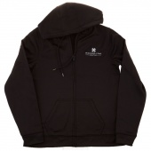 MSQC Logo Small Zip Hooded Jacket - Black
