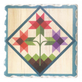 Barn Quilts Coaster - Tulip Trio