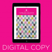 Digital Download - Tumbler Chevron Quilt Pattern by Missouri Star