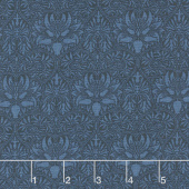 """Morris Garden - Crown Imperical 1888 Indigo 108"""" Wide Backing"""