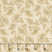 Wit & Wisdom - Sawtooth Leaves Cream Yardage