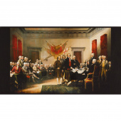 Patriots - Presidents Antique Digitally Printed Panel