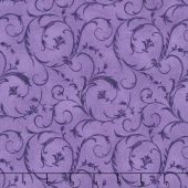 "Beautiful Backings - Elegant Scroll Amethyst 108"" Wide Backing"