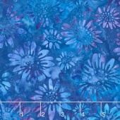 Artisan Batiks - Greenhouse 3 Daisy Field Cornflower Yardage