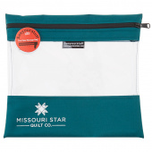 "Missouri Star SEEYOURSTUFF Bag 10"" x 11"" - Teal"