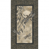 Shimmer Dragonfly Moon - Tranquility Dragonfly Black Taupe Panel