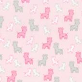 Cozy Cotton Flannels - Pink Giraffes Yardage