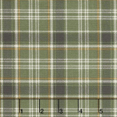 Home Sweet Cabin - Plaid Green Yardage