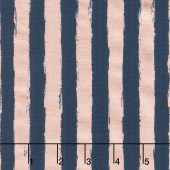Blush - Stripe Blue Sparkle Yardage