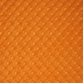 "Cuddle Embossed Dimple - Pumpkin 60"" Minky Yardage"