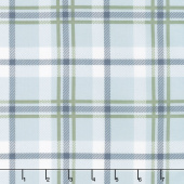 Harvest Road - Forever Plaid Smokey Blue Yardage