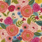 English Garden - Juliet Rose Cream Linen Canvas Yardage