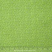Storybook Flannel - Pretty Poppies Green Yardage