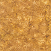 Season's Splendor Batiks - Swirl Snowflake Bronze Yardage