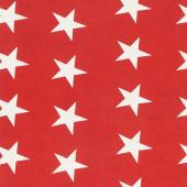 Mackinac Island - Bunting Star Red Yardage