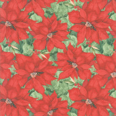Cardinal Noel - Poinsettias Red Yardage