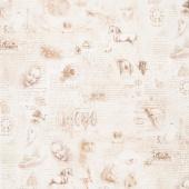 Leonardo Da Vinci - Pages Antique Digitally Printed Yardage